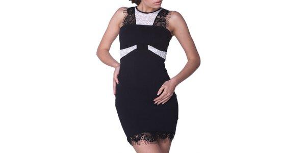 Dámské černé šaty s bílými detaily Arefeva