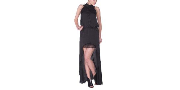 Dámské černé šaty s dlouhou zadní částí Arefeva
