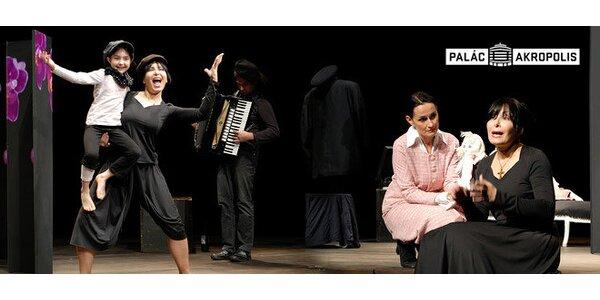 Zora Jandová jako Edith Piaf v představení Smrt v růžovém