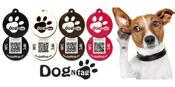 Psí známky DogNTag s webovým profilem