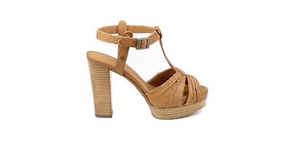 Dámské hnědé sandálky Cubanas Shoes