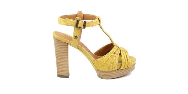 Dámské žluté sandálky Cubanas Shoes