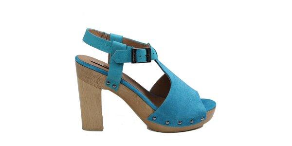 Dámské modré střevíčky s platformou Cubanas Shoes