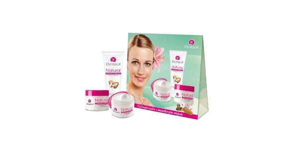 Kosmetický balíček NATURAL Vyživující péče s mandlovým olejem (50ml+50ml+100ml)