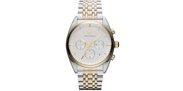 Pánské ocelové hodinky s chronografem Emporio Armani