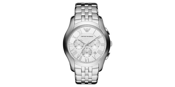 Pánské stříbrné hodinky z nerezové oceli Emporio Armani
