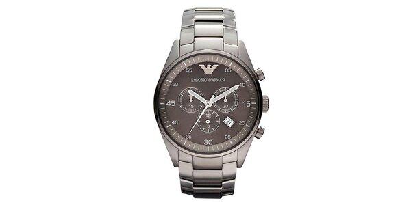 Pánské ocelové hodinky s datumovkou Emporio Armani
