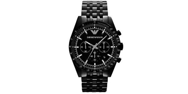 Pánské černé hodinky Emporio Armani