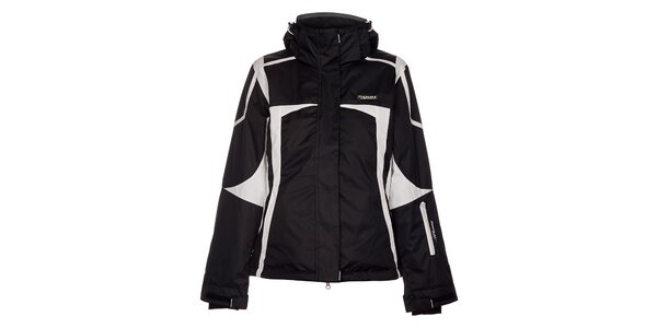 Dámská černá lyžařská bunda Envy s bílými detaily