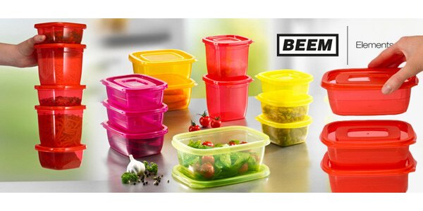 32dílná sada boxů na potraviny BEEM