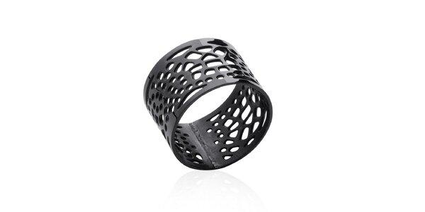 Dámský černý filigránový prsten La Mimossa