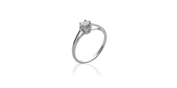 Dámský stříbrný zásnubní prsten se zirkonem La Mimossa