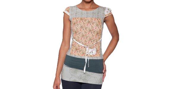 Dámské dlouhé tričko s květinovým vzorem Ian Mosh