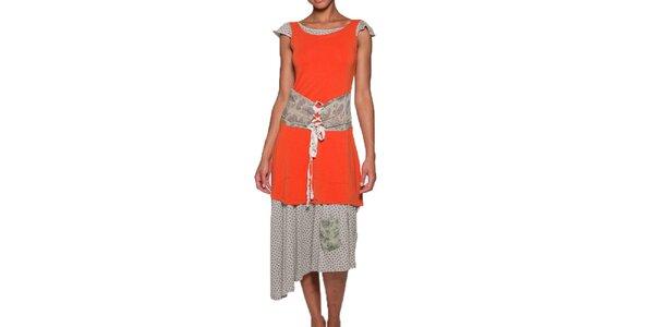Dámské dlouhé oranžové šaty Ian Mosh