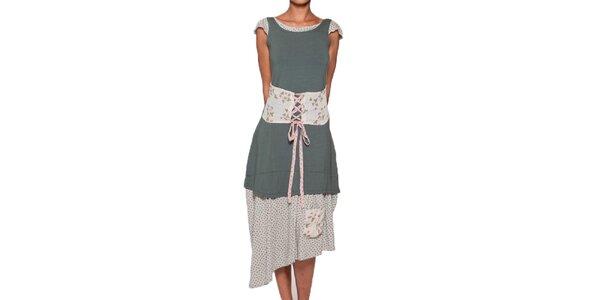 Dámské dlouhé zelené šaty Ian Mosh