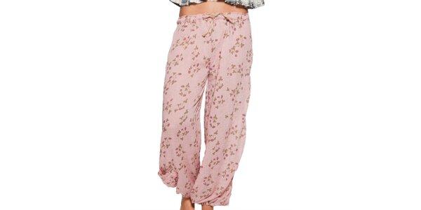Dámské světle růžové volné kalhoty Ian Mosh