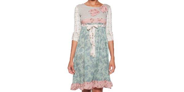 Dámské šaty s volánkem a mašlí v pase Ian Mosh