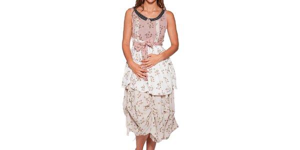 Dámské dlouhé nařasené šaty s potiskem Ian Mosh