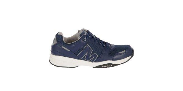 Pánské modré kožené sportovní tenisky Merrell
