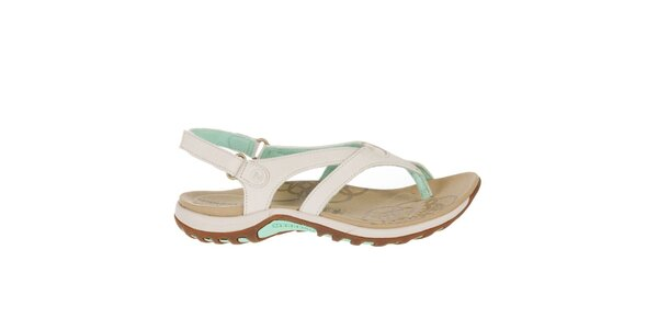Dámské světlé sandály se zelenými prvky Merrell