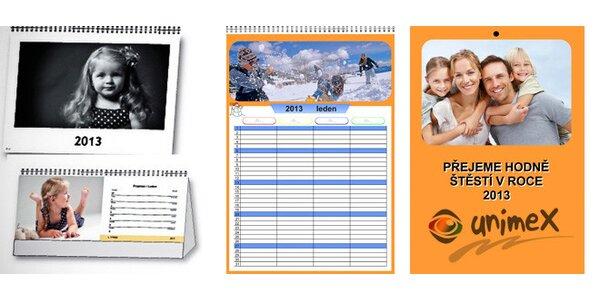 Fotokalendář z vlastních fotek – různé druhy
