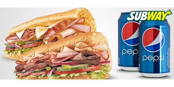 Dva sendviče dle chuti s Pepsi ze SUBWAY®