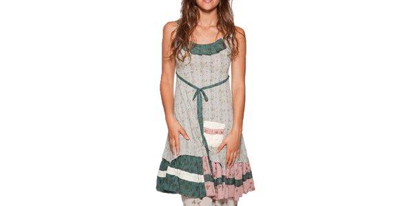 Dámské krátké květované šaty s kanýrem Ian Mosh