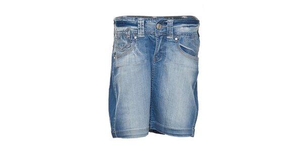 Dámská úzká světlemodrá džínová sukně Lois