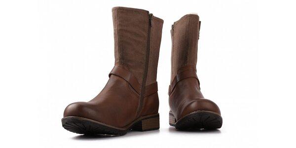 Dámské hnědé kotníkové boty Toscania