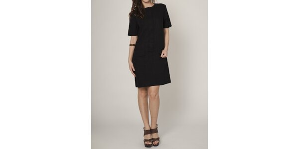 Dámské černé pouzdrové šaty Mell