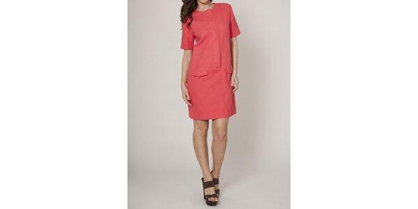 Dámské korálově červené pouzdrové šaty Mell