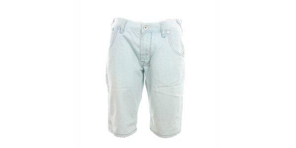 Pánské světlé pruhované kraťasy Exe Jeans