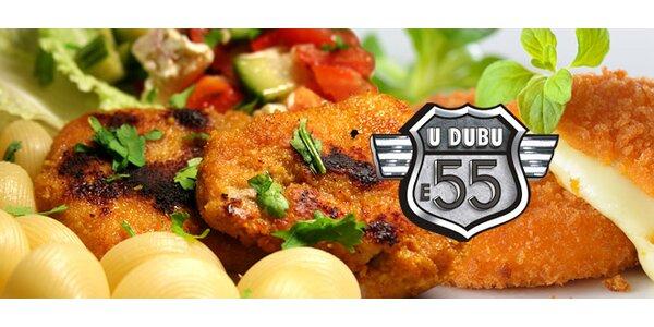 Sýrové nebo řízkové menu PRO DVA v motorestu U Dubu