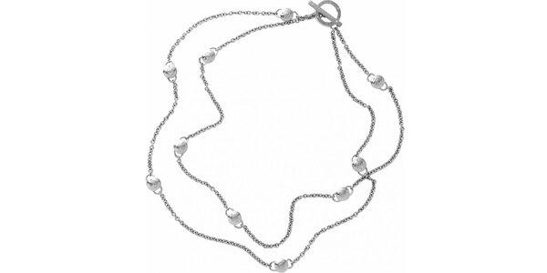 Dámský náhrdelník ve stříbrné barvě DKNY