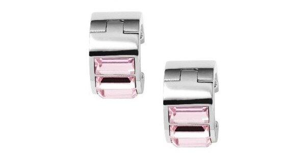 Dámské náušnice s růžovými zirkony DKNY