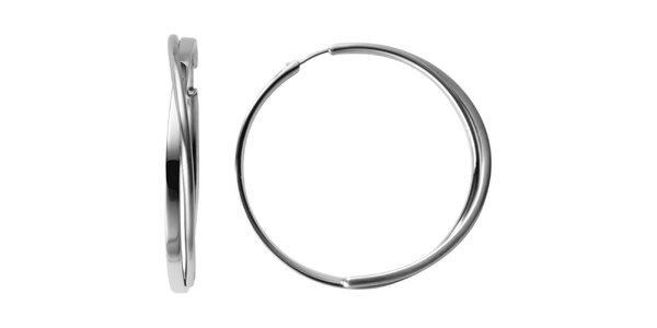 Dámské kruhové náušnice DKNY