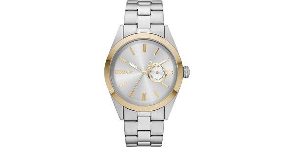 Ocelové hodinky ve stříbrné barvě DKNY