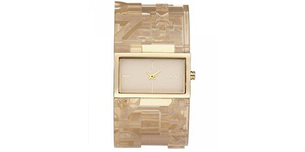 Dámské náramkové hodinky s obdélníkovým ciferníkem DKNY