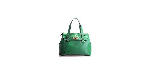 Dámská zelená kožená kabelka Belle & Bloom