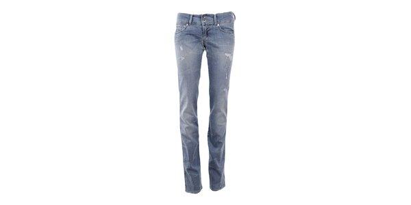 Dámské modré džíny s prodřeninami Gas