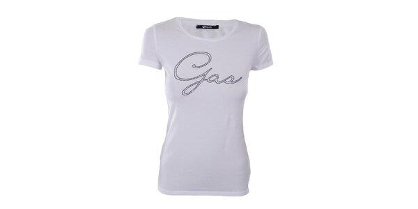Dámské bílé tričko Gas