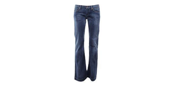 Dámské modré zvonové džíny Gas