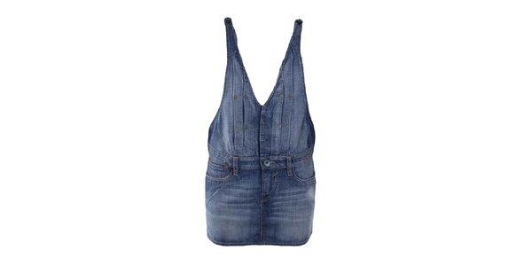 Dámská džínová sukně s laclem Gas