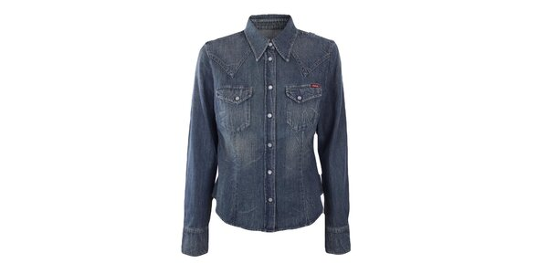 Dámská vintage džínová košile Gas