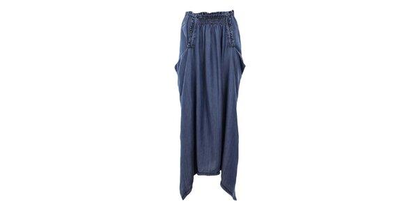 Dámská volná modrá džínová sukně Gas