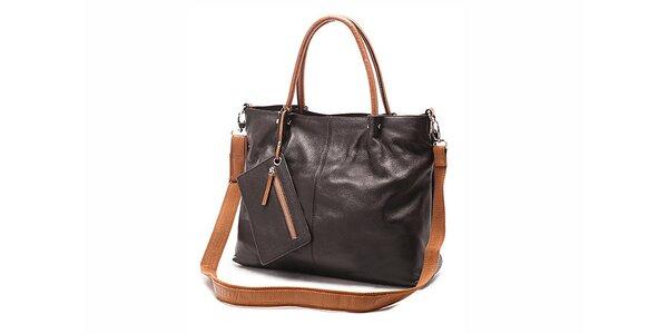 Tmavě hnědá elegantní kabelka Belle&Bloom