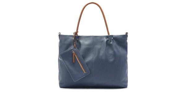Dámská tmavě modrá kabelka Belle & Bloom s kontrastními uchy