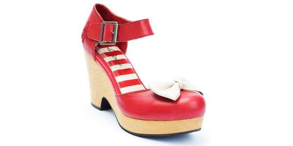 Dámské červené boty s mašlí Lola Ramona