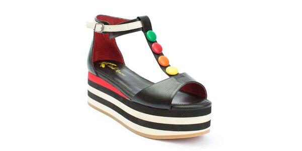 Dámské sandály na platformě s lentilkami Lola Ramona