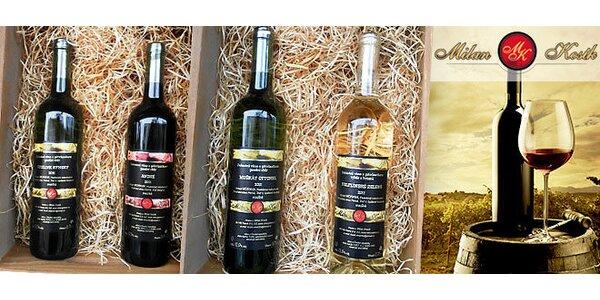 Výběr 4 přívlastkových vín Kosík